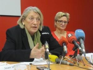 Teresa Crespo, presidenta d'ECAS, i Fina Rubio, presidenta de Fundació Surt.
