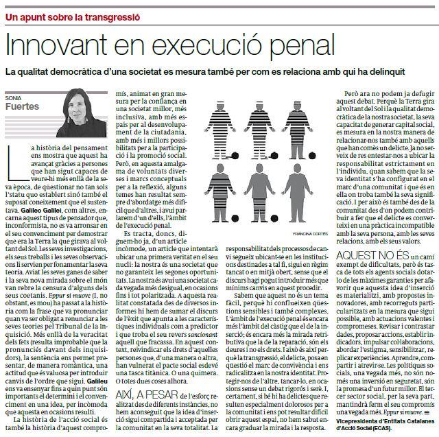 Captura article d'opinió sobre execució penal