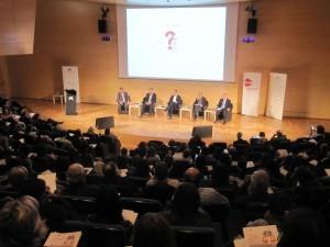 Imatge de l'auditori durant la presentació d'experiències
