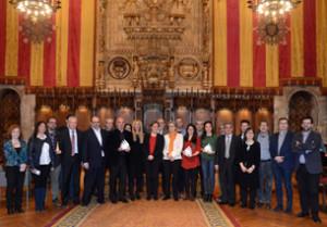 Representants de les empreses guardonades amb els premis Innovació en conciliació i temps