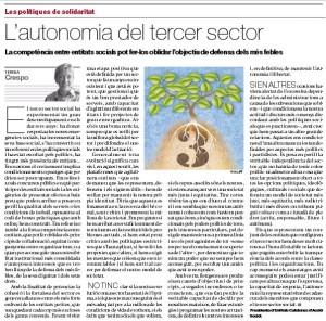 L'autonomia del tercer sector, article d'opinió de Teresa Crespo