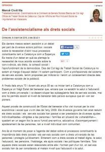 Captura article d'opinió sobre drets socials