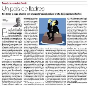 Article de Teresa Crespo sobre fiscalitat