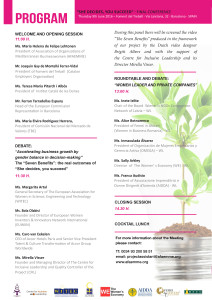 Programa conferència foment dones directives