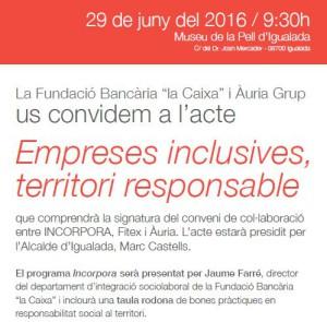 Acte sobre inclusió i empresa