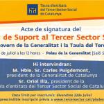 Signatura del pla de suport al tercer sector