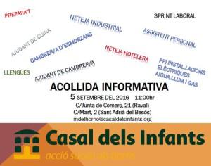 acollida informativa sobre cursos Casal dels Infants