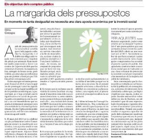 'La margarida dels pressupostos', article de Teresa Crespo