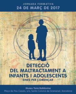 Cartell curs detecció maltractament infantil i juvenil