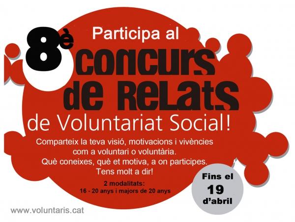 Concurs de Relats de Voluntariat Social a Lleida, fins el 19 d'abril