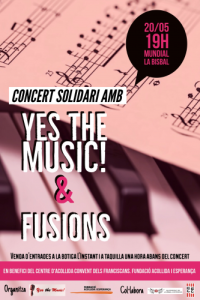 Cartell concert solidari 'Yes the music & Fusions'