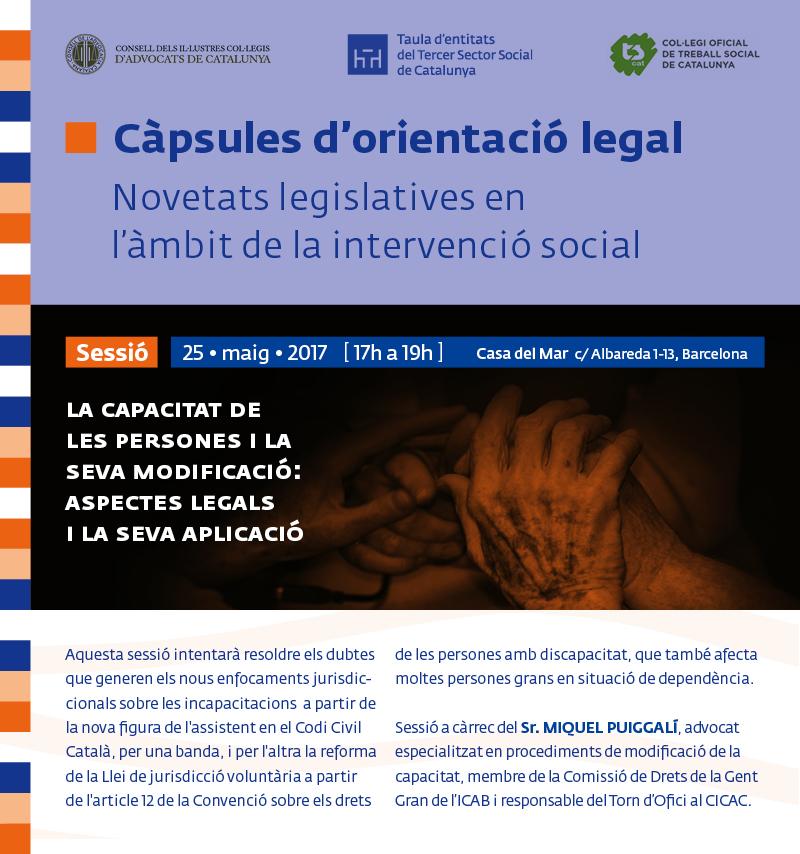 Càpsula sobre 'Novetats legislatives en l'àmbit de la intervenció social', 25 de maig