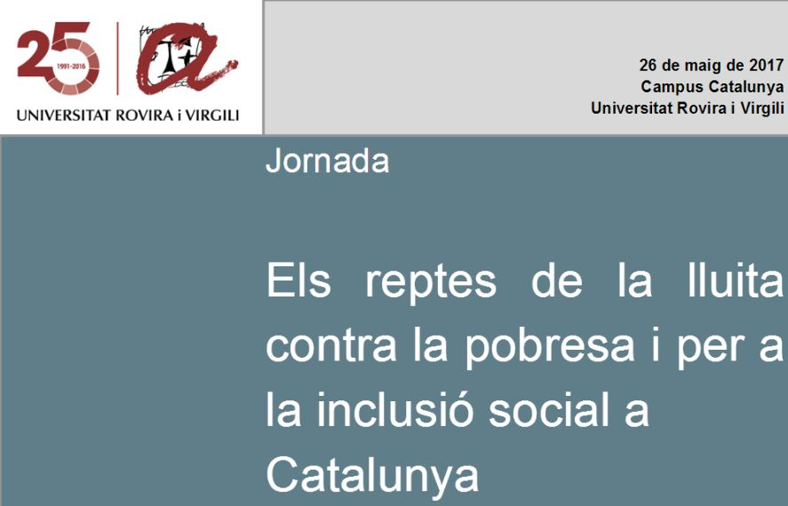 'Els reptes de la lluita contra la pobresa i per a la inclusió social a Catalunya', 26 de maig