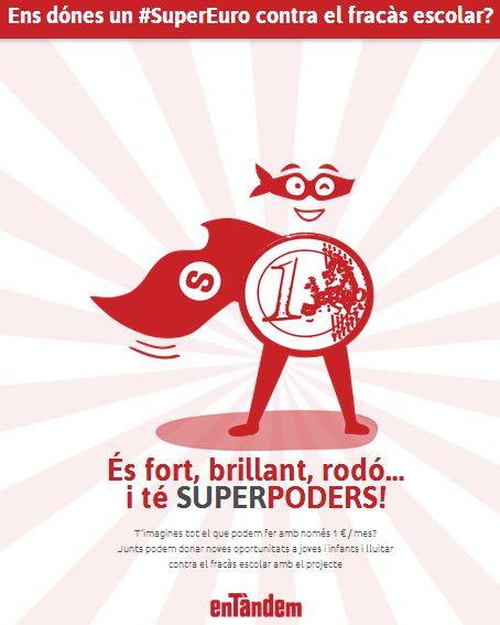 SuperEuro, l'enemic més temut del fracàs escolar, campanya d'AFEV