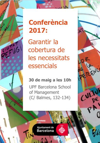 Conferència 2017 del Projecte Tractor Barcelona Garantia Social d'Acord Ciutadà, 30 de maig