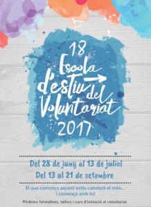 Cartell de l'Escola d'Estiu del Voluntariat