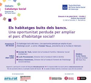 Cartell Debat Catalunya Social