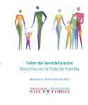 Cartell 'Drests en la vida en Família'