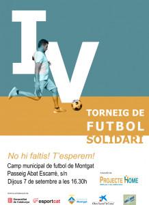 Cartell del Torneig de Futbol Solidari