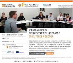 Cartell jornada 'Reinventant el lideratge en el tercer sector'