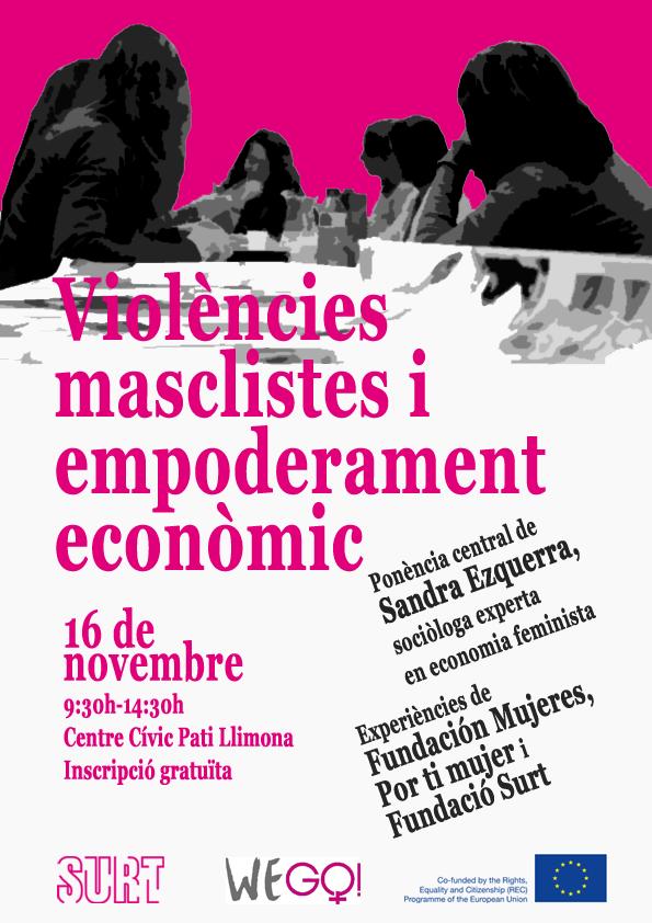 'Violències masclistes i empoderament econòmic', 16 de novembre