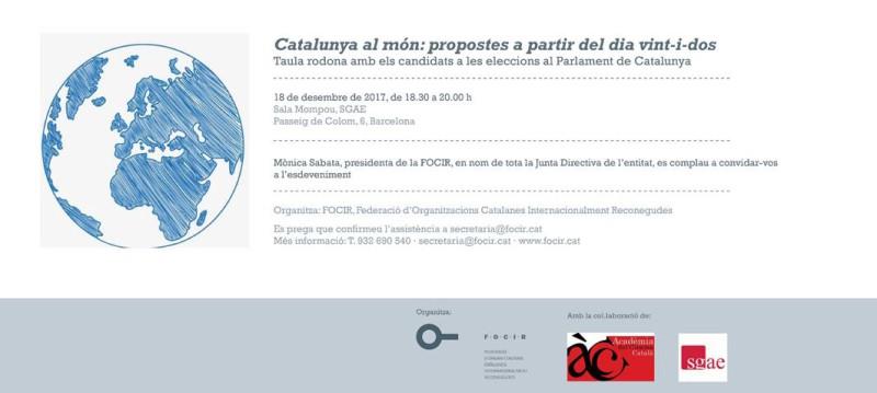 'Catalunya al món', debat electoral, 18 de desembre
