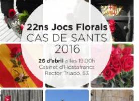 ABD celebra la 22a edició dels Jocs Florals del CAS de Sants el 26 d'abril
