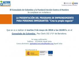 Acció Contra la Fam presenta 'Vives Emprende' als consolats de República Dominicana i de Colòmbia