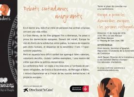 Conferència sobre les democràcies europees i les persones refugiades, 11 de maig
