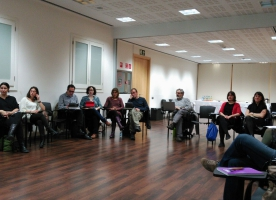La internacionalització de les entitats d'ECAS al taller sobre teoria del canvi