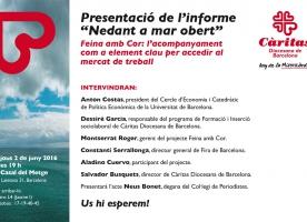 Càritas presenta l'informe 'Nedant a mar obert'
