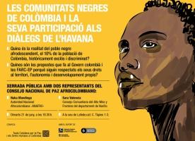 Xerrada sobre les comunitats negres de Colòmbia i el procés de pau, 21 de juny