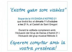 Sopar solidari amb Astrid21, 11 d'octubre