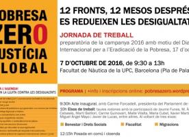 Jornada de treball '12 fronts, 12 mesos després: es redueixen les desigualtats?', 7 d'octubre de 2016