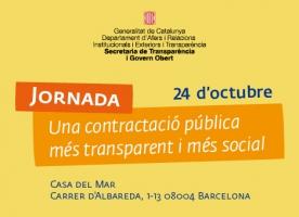 'Una contractació pública més transparent i més social', jornada 24 d'octubre