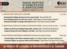 Seminari internacional sobre nous reptes de l'habitatge a Barcelona, 24 d'octubre