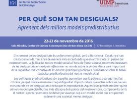 Curs sobre desigualtats i models predistributius, 22 i 23 de novembre