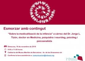 Esmorzar d'Intress 'Sobre la medicalització de la infància', 16 de novembre