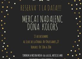 Mercat solidari de Dona Kolors, 15 de desembre a la seu d'El Lloc de la Dona