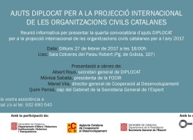 Sessió informativa dels ajuts Diplocat, 27 de febrer