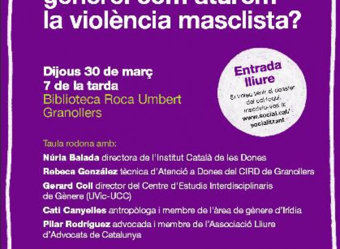 'Desigualtats de gènere: com aturem la violència masclista?', taula rodona Social.cat el 27 de març