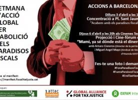 Setmana d'acció global per a l'abolició dels paradisos fiscals, inici 3 d'abril