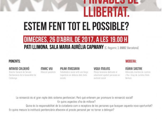 Taula rodona sobre reinserció de persones privades de llibertat, 26 d'abril