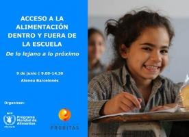 Jornada 'Acceso a la alimentación dentro y fuera de la escuela', 9 de juny a Barcelona