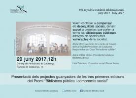 Tercer Aniversari de la Fundació Biblioteca Social, 20 de juny