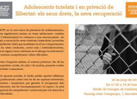 Jornada sobre adolescents tutelats i en privació de llibertat, 26 de juny