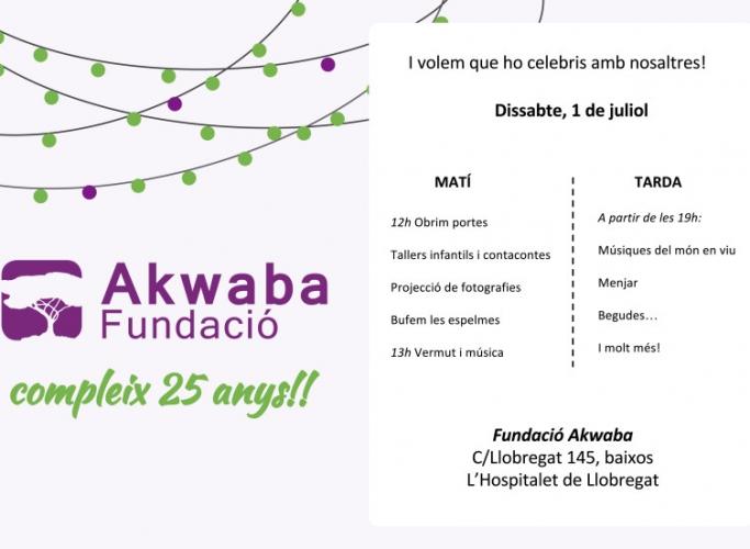 25è Aniversari de la Fundació Akwaba, 1 de juliol