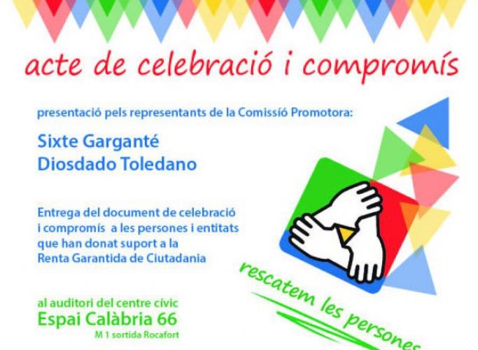 Celebració i compromís amb la Renda Garantida Ciutadana, 14 de juliol