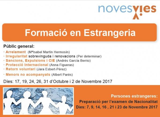 Formació en estrangeria de Noves Vies, octubre i novembre