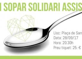 II Sopar Solidari d'ASSÍS Centre d'Acollida, 28 de setembre